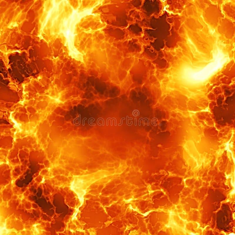 De explosie van de vuurbol stock illustratie