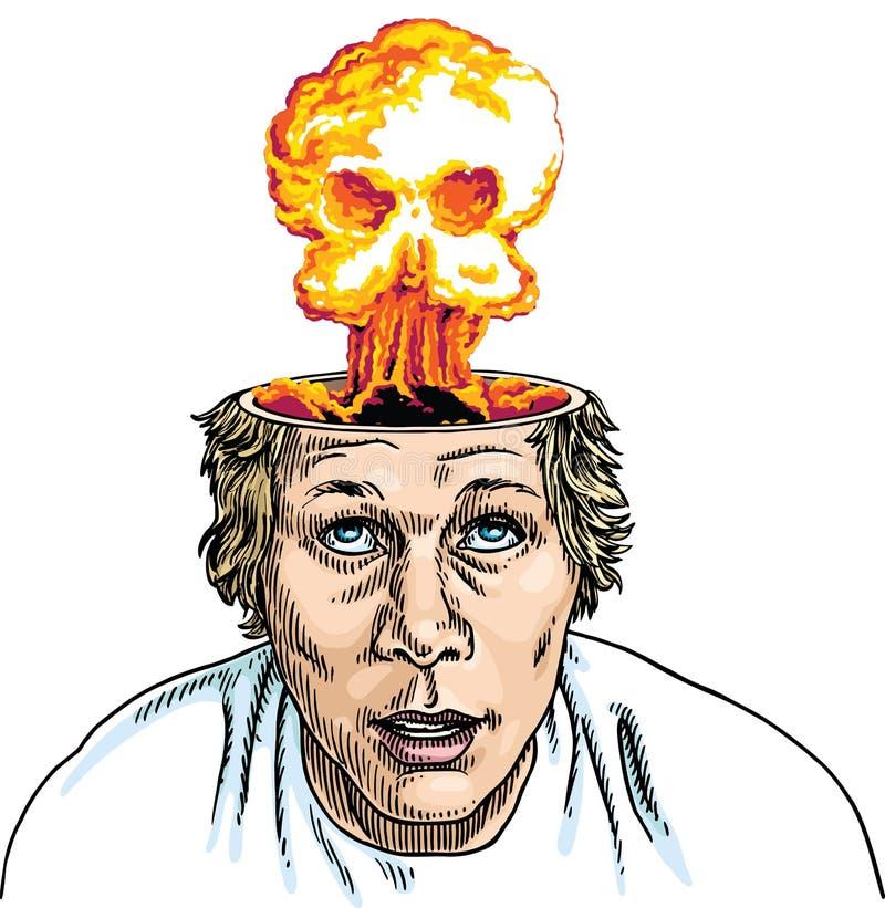 De Explosie van hersenen stock illustratie
