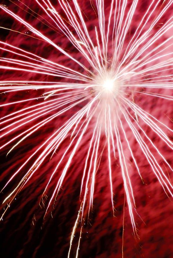 De explosie van het vuurwerk stock fotografie
