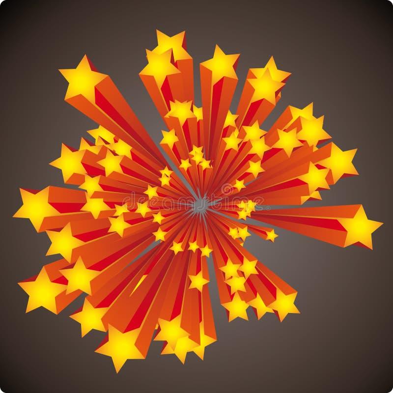 De explosie van sterren vector illustratie