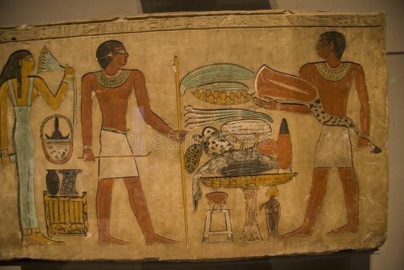 De expositie van KHM Egypte - oud art. stock afbeelding