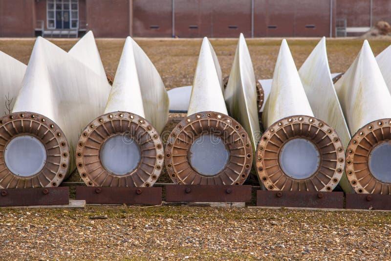 De extra vleugels van de windturbine royalty-vrije stock afbeelding