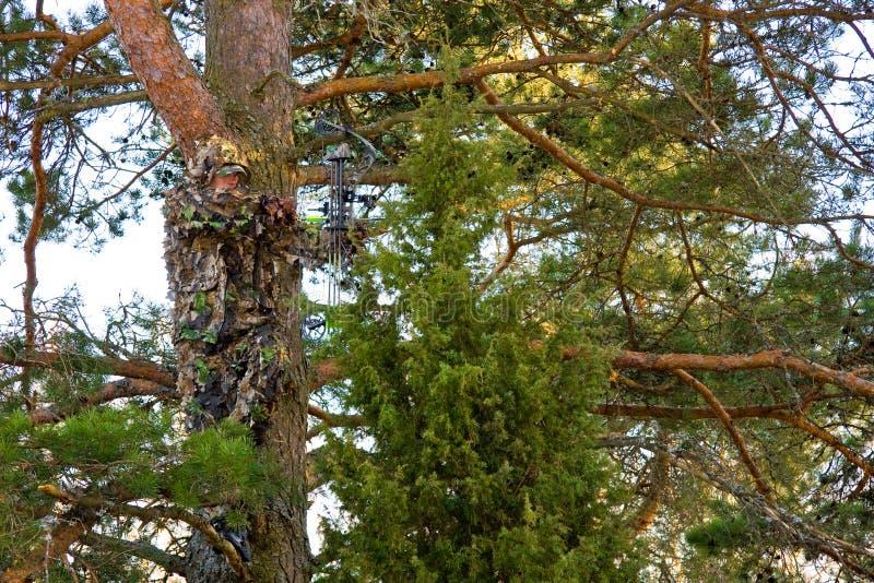 De extreme camouflage van de Jager van de boog royalty-vrije stock foto's