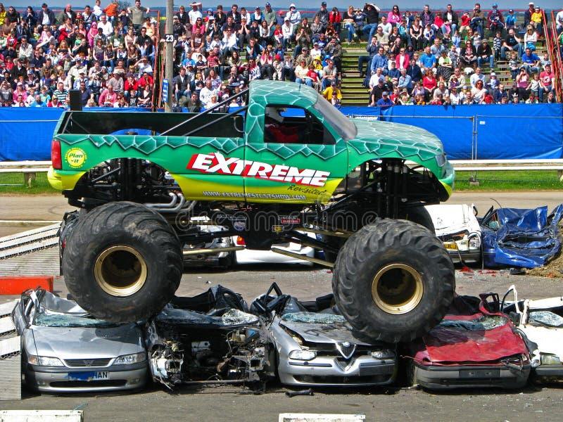 De extreme Vrachtwagen van het Monster royalty-vrije stock foto's