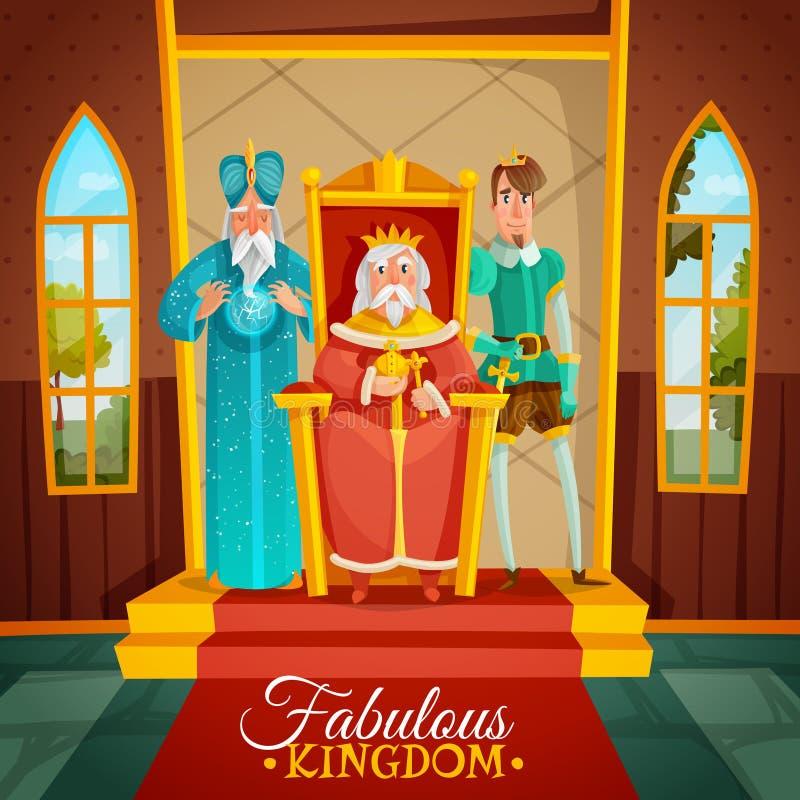 De fabelachtige Illustratie van het Koninkrijksbeeldverhaal royalty-vrije illustratie