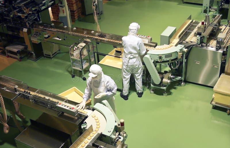 De fabriek van de banketbakkerij stock afbeeldingen