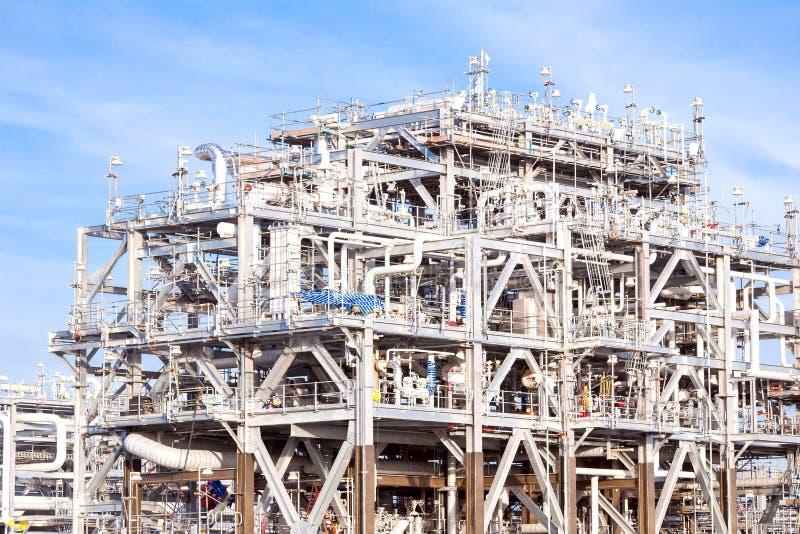 De Fabriek van de LNGraffinaderij stock foto's