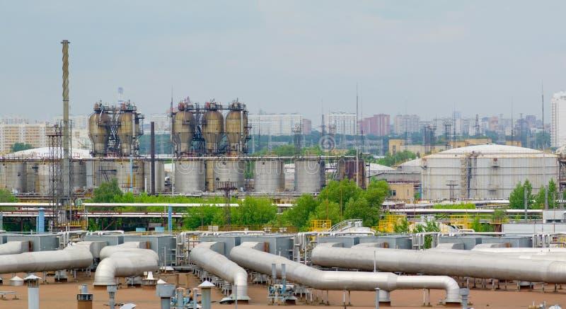 De fabriek van de olie royalty-vrije stock foto's