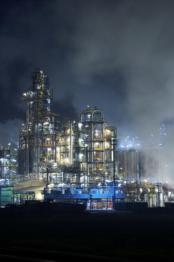 De fabriek van de olie royalty-vrije stock fotografie