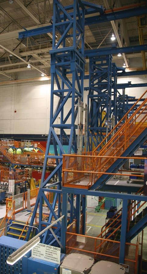 De Fabriek van de Productie van het vliegtuig royalty-vrije stock foto