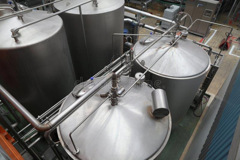 De fabriek van het bier royalty-vrije stock fotografie