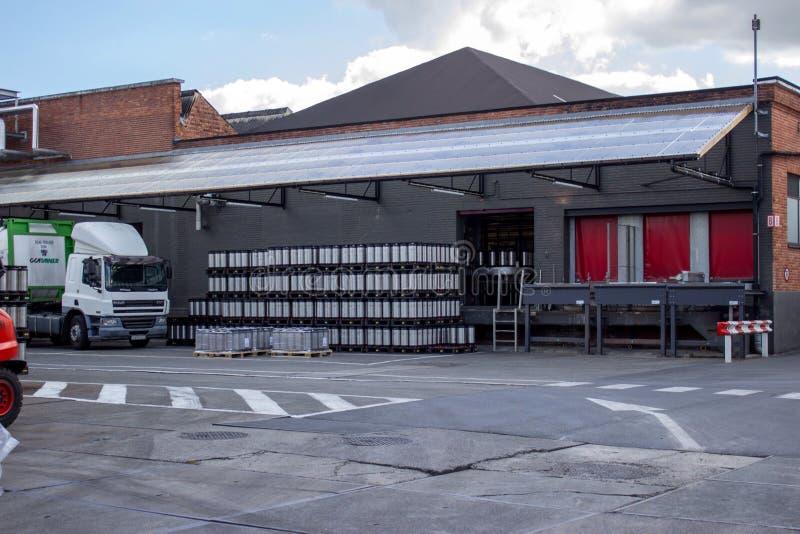 De fabriek van het bier stock fotografie