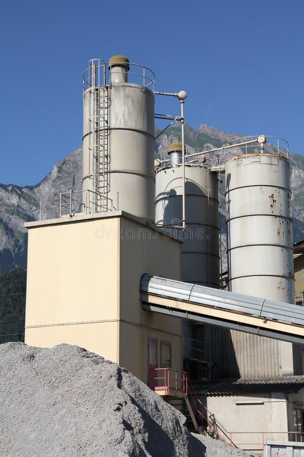 De fabriek van het cement royalty-vrije stock foto