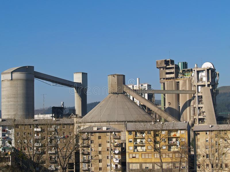 Cementfabriek royalty-vrije stock foto's