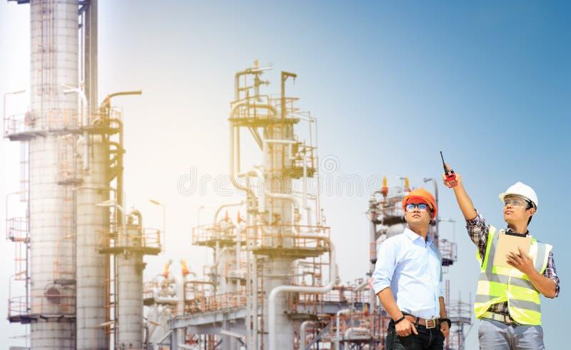 De fabriek van het chemische product en van de olie royalty-vrije stock afbeeldingen