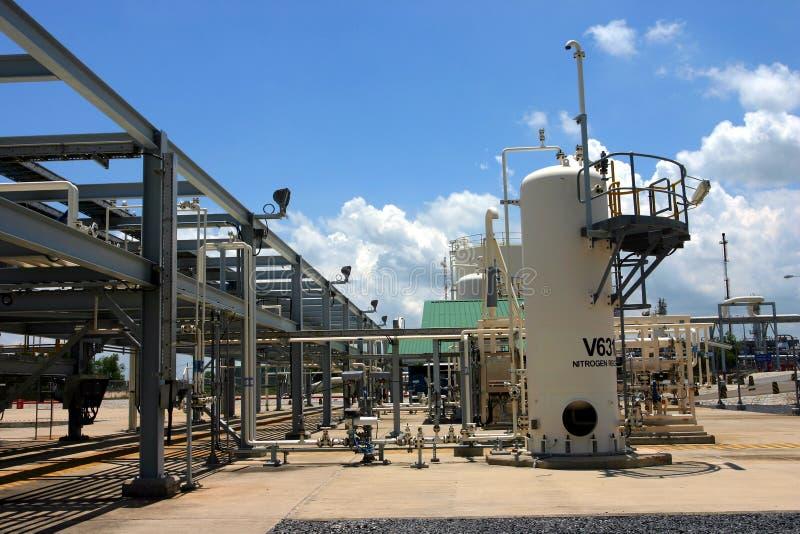 De fabriek van het gas stock afbeelding