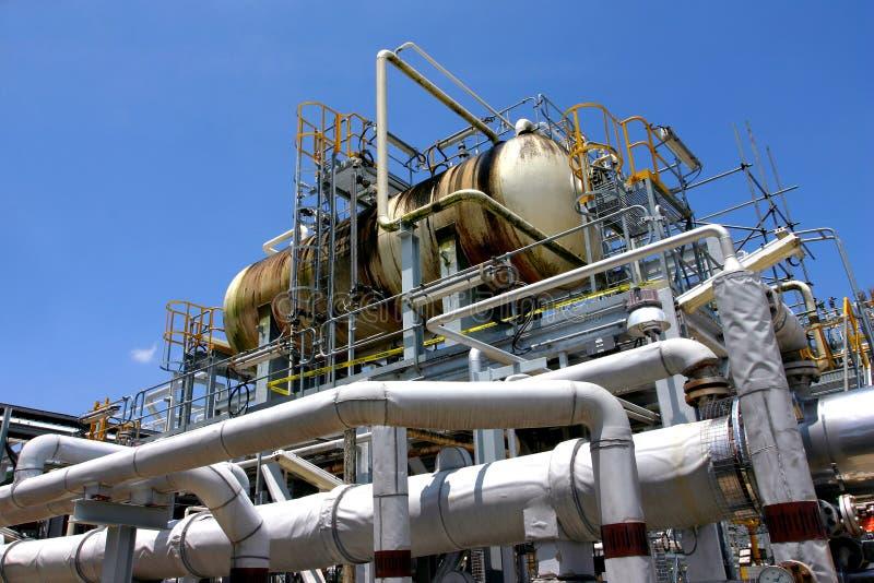 De fabriek van het gas royalty-vrije stock fotografie