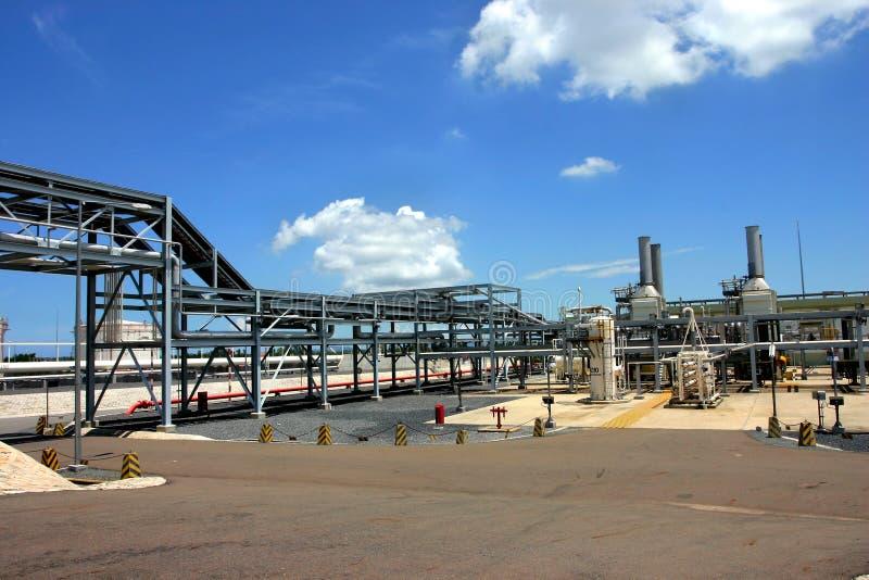 De fabriek van het gas royalty-vrije stock afbeeldingen