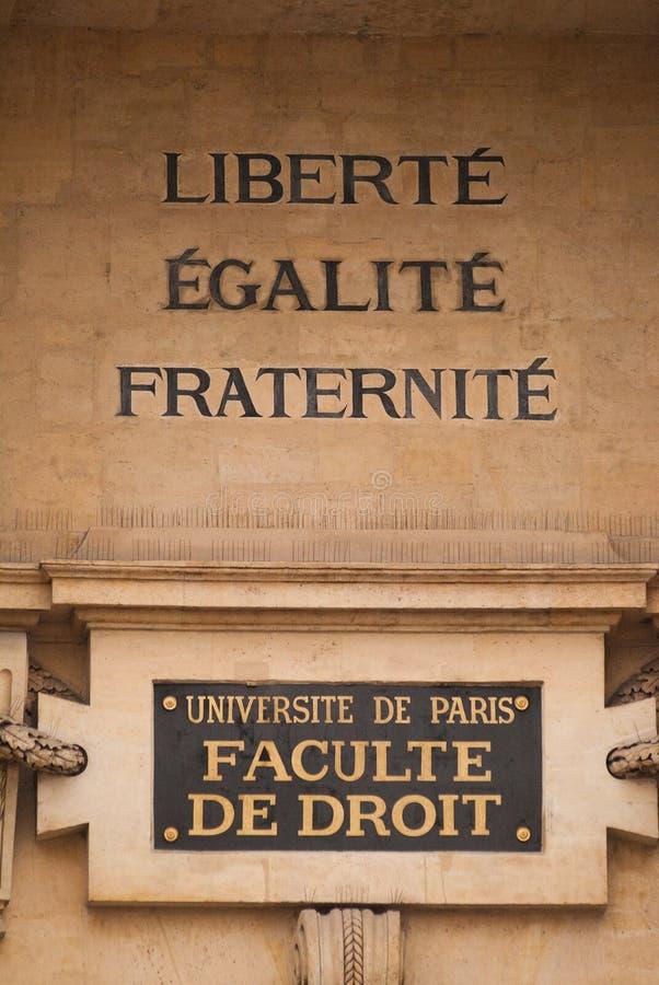 De faculteit van Parijs van wet stock fotografie
