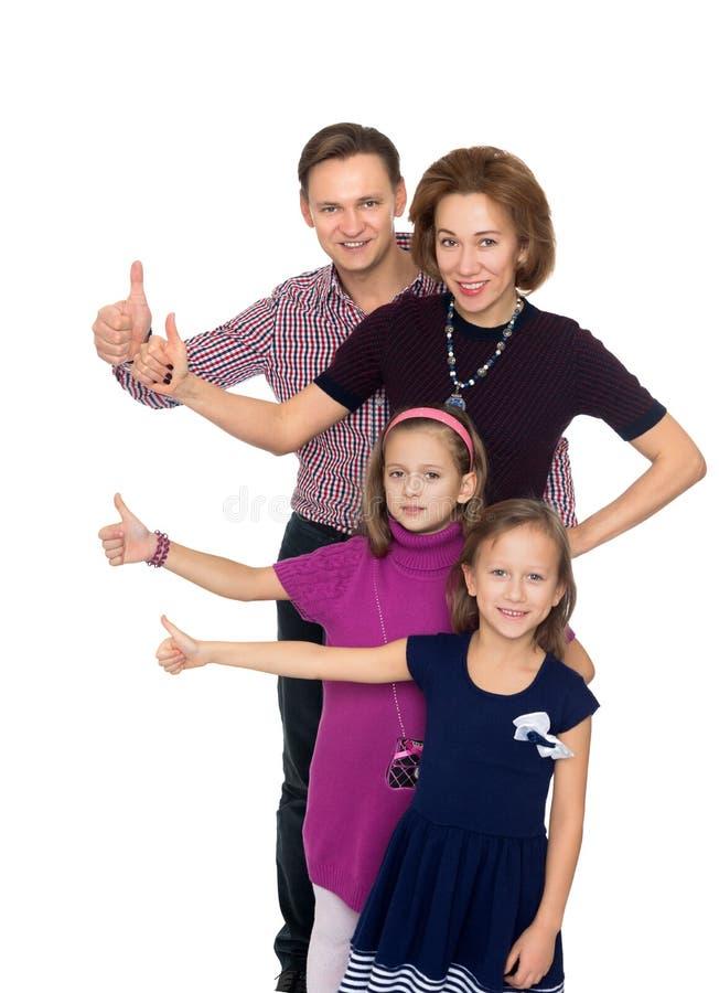 De familie is goed allen royalty-vrije stock foto's