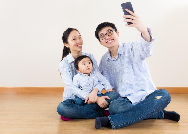 De familie van Azië selfie royalty-vrije stock fotografie