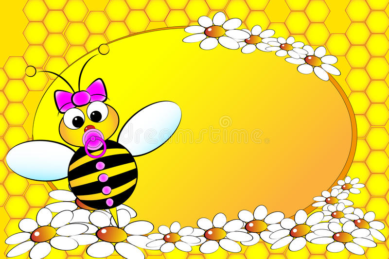 De Familie van bijen: Het meisje van de baby - de Illustratie van Jonge geitjes vector illustratie