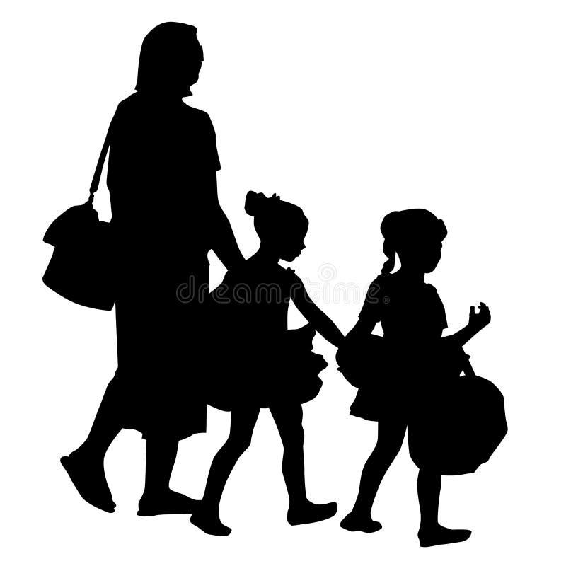 De Familie van de dansoverweging vector illustratie