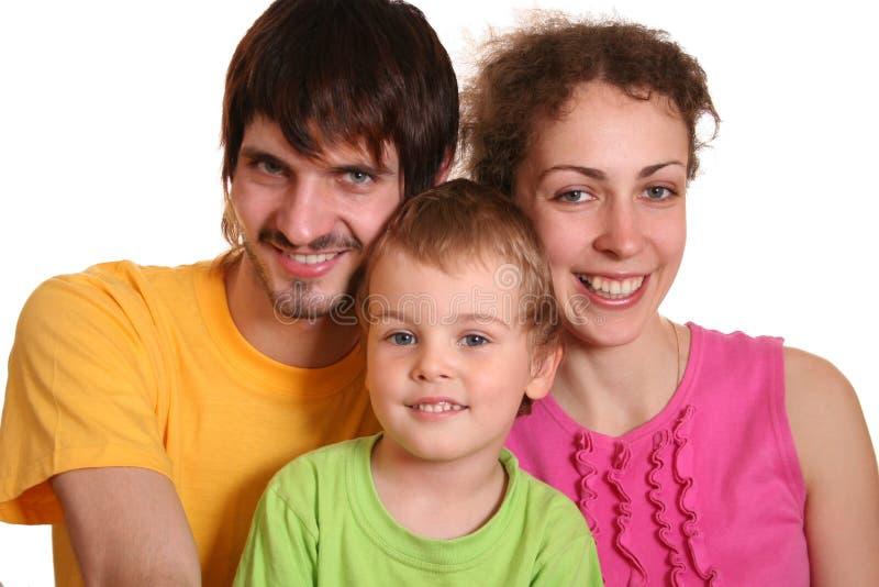 De familie van de kleur stock afbeeldingen