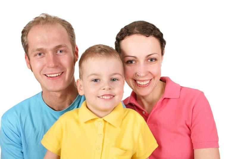 De familie van de kleur met jongen royalty-vrije stock foto