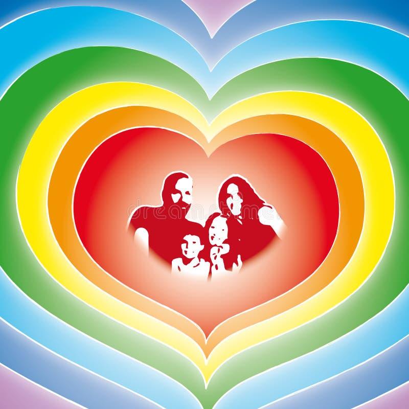 De familie van de liefde (vector)