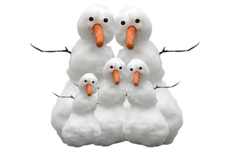 De Familie van de sneeuw stock foto