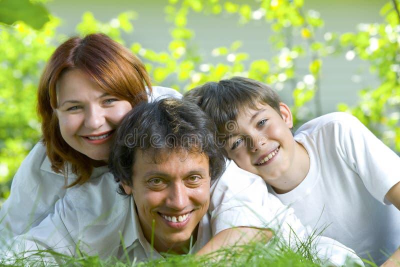 De familie van de zomer royalty-vrije stock foto's