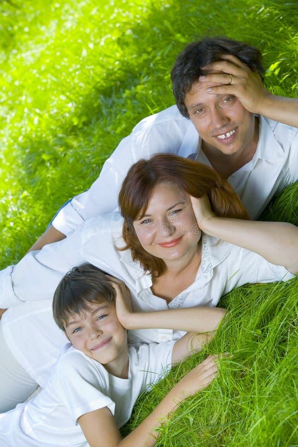 De familie van de zomer stock foto