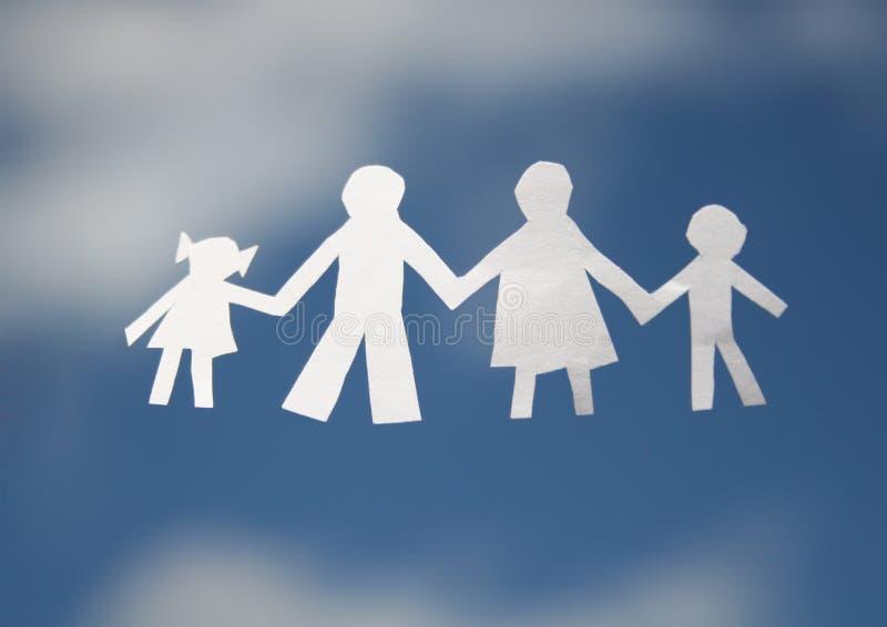 De familie van het document stock foto