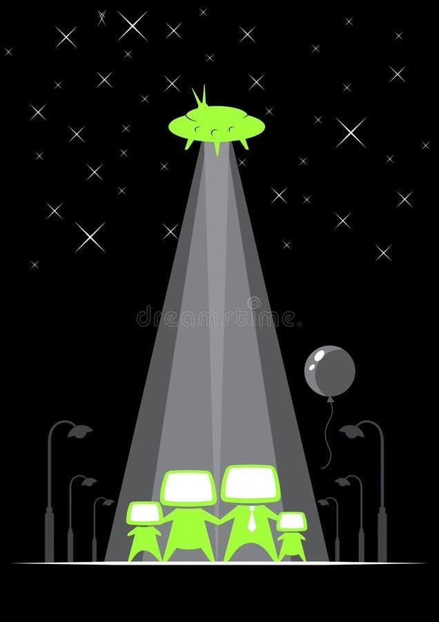 De familie van het UFO stock illustratie
