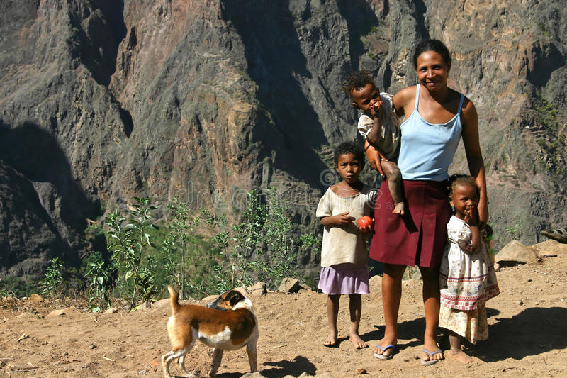 De Familie van Kaapverdië stock foto's