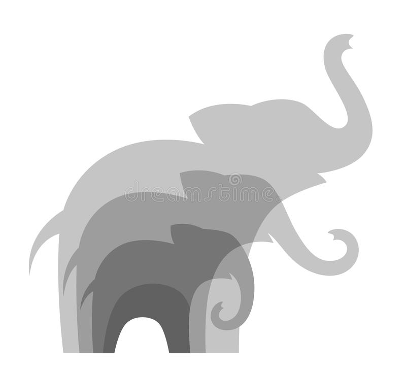 De familie van olifanten stock illustratie