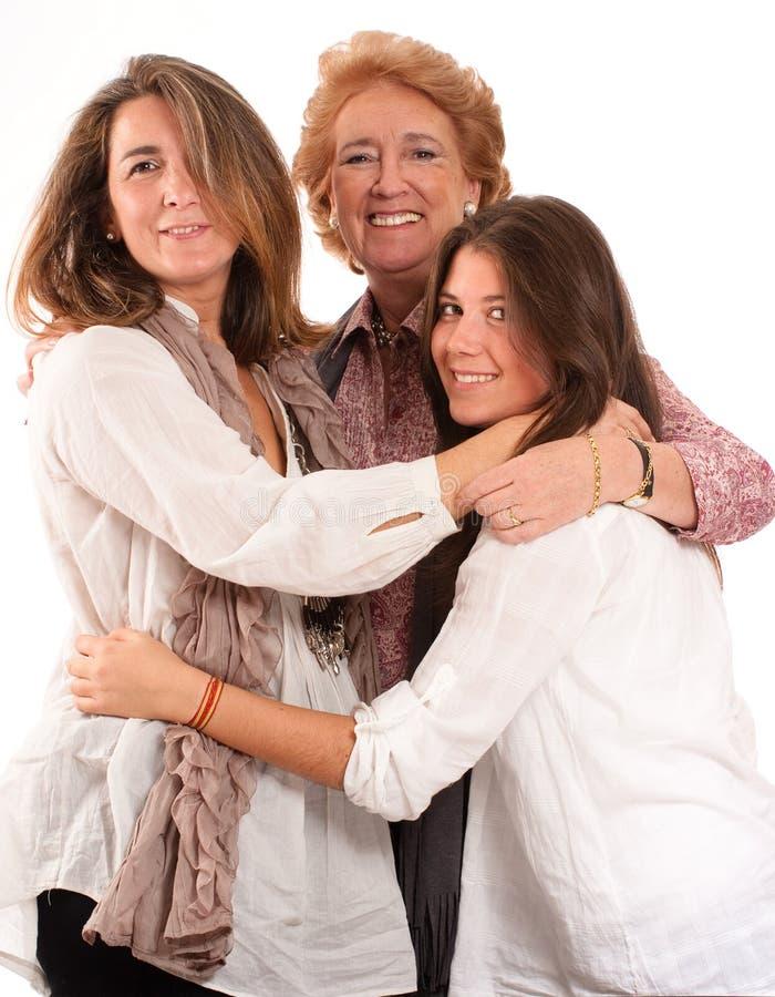 De familie van vrouwen royalty-vrije stock fotografie