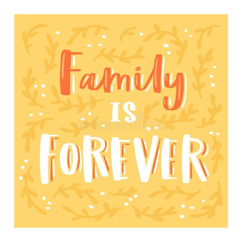 De familiedag die vector mooi kalligrafie lief teken lettring aan mammapapa i houdt van u op van Valentijnskaartenmoeders of Vade royalty-vrije illustratie