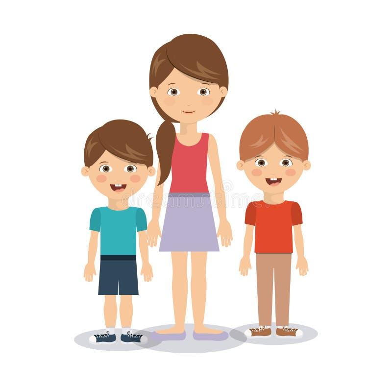 De familieleden ontwerpen vector illustratie