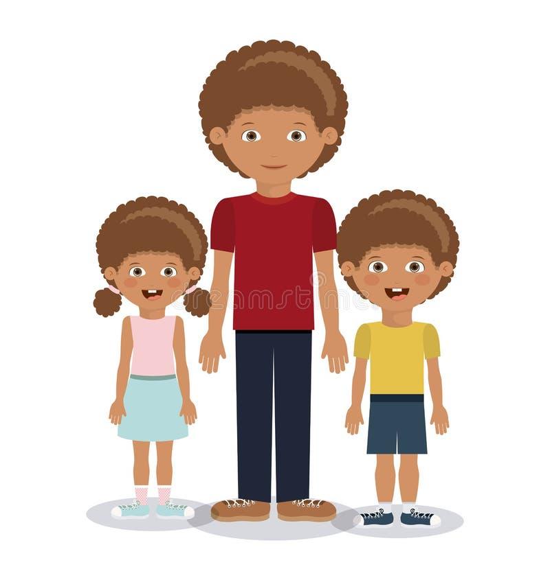 De familieleden ontwerpen royalty-vrije illustratie