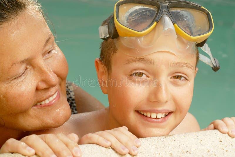 De familiepret van de zomer royalty-vrije stock foto