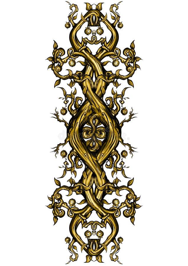 De fantasie bended element in elfachtige stijl royalty-vrije illustratie