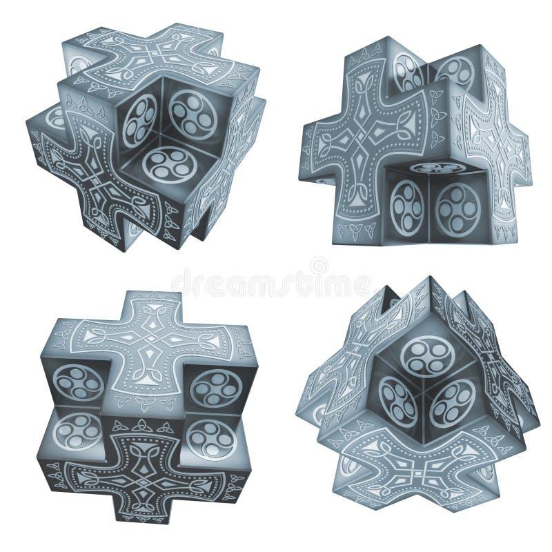 De fantasie kruist artefacten stock illustratie