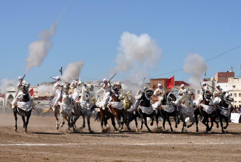 De fantasie toont in Marokko-Safi Marokko royalty-vrije stock afbeelding