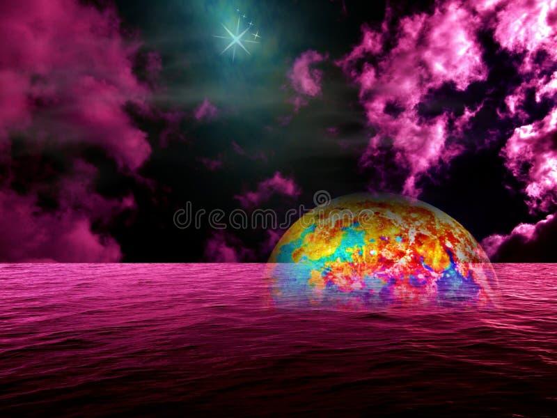 De Fantasie van Atlantis stock afbeeldingen