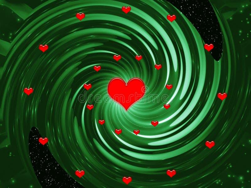 De fantasie van de abstractie voor de dag van Valentijnskaarten vector illustratie
