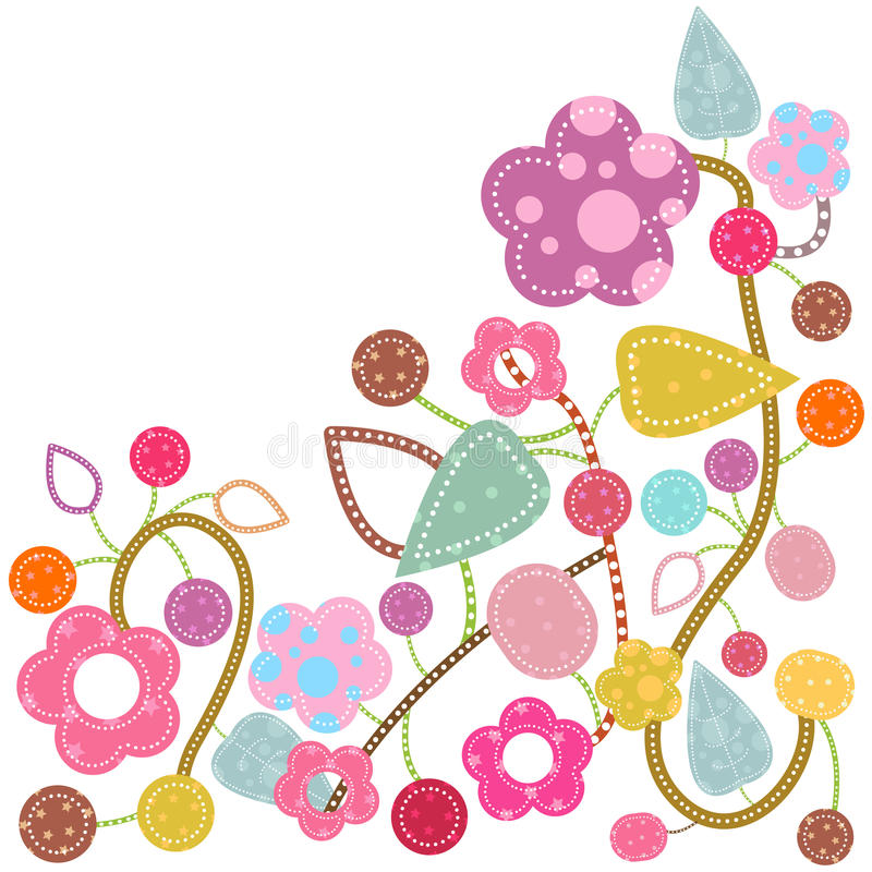 De fantasie van de bloem vector illustratie