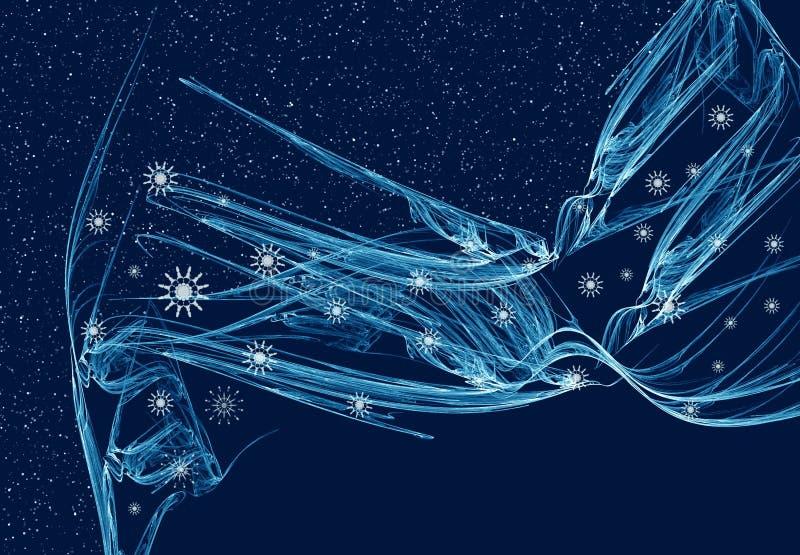 De fantasie van de winter stock illustratie