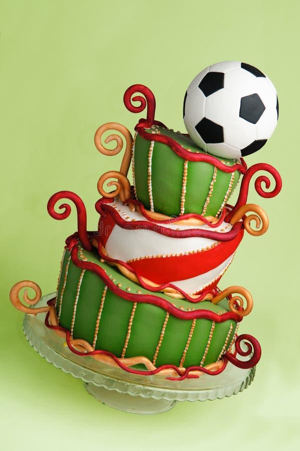 De fantasiecake van het voetbal